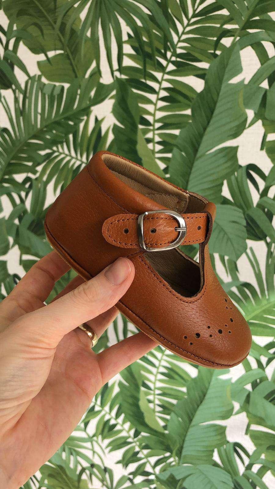 Taba Rengi Tokalı İlk Adım Ayakkabısı