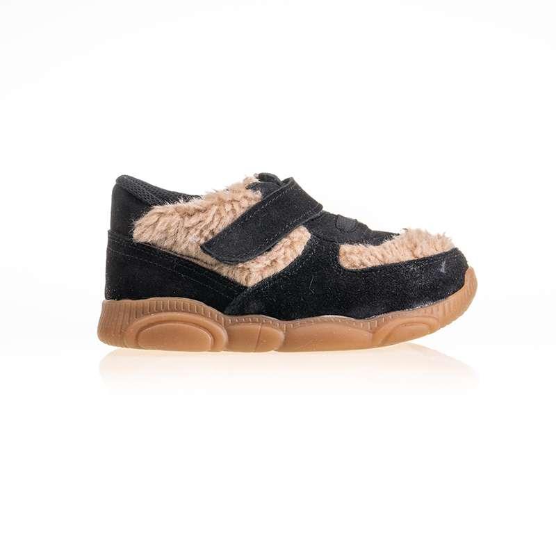 Siyah Taba Kürklü Sneaker