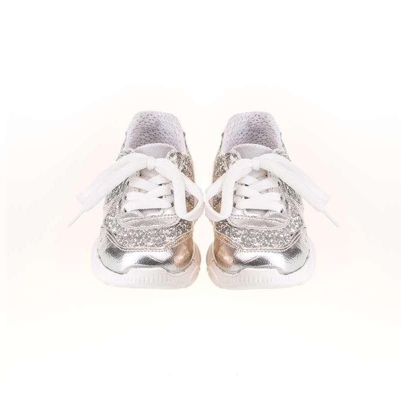 Gümüş Simli Sneaker