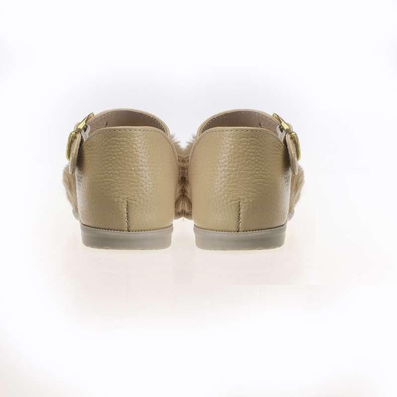 Vizon Kürklü Kız Sandaleti