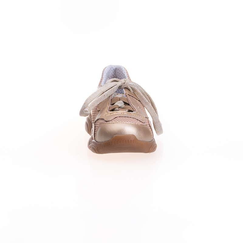 Altın Rengi Geometrik Sneaker