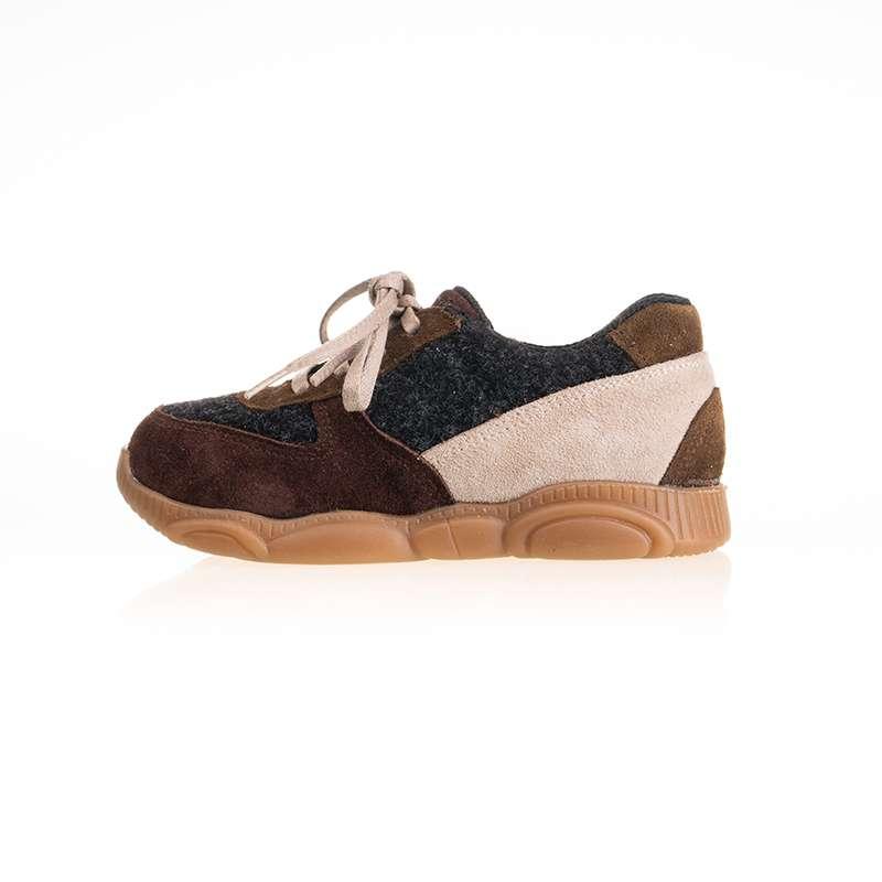 Taba Krem Bağcıklı Sneaker