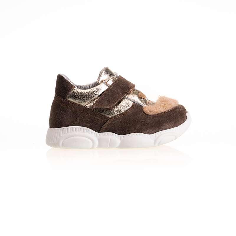 Kahverengi Kürklü Sneaker