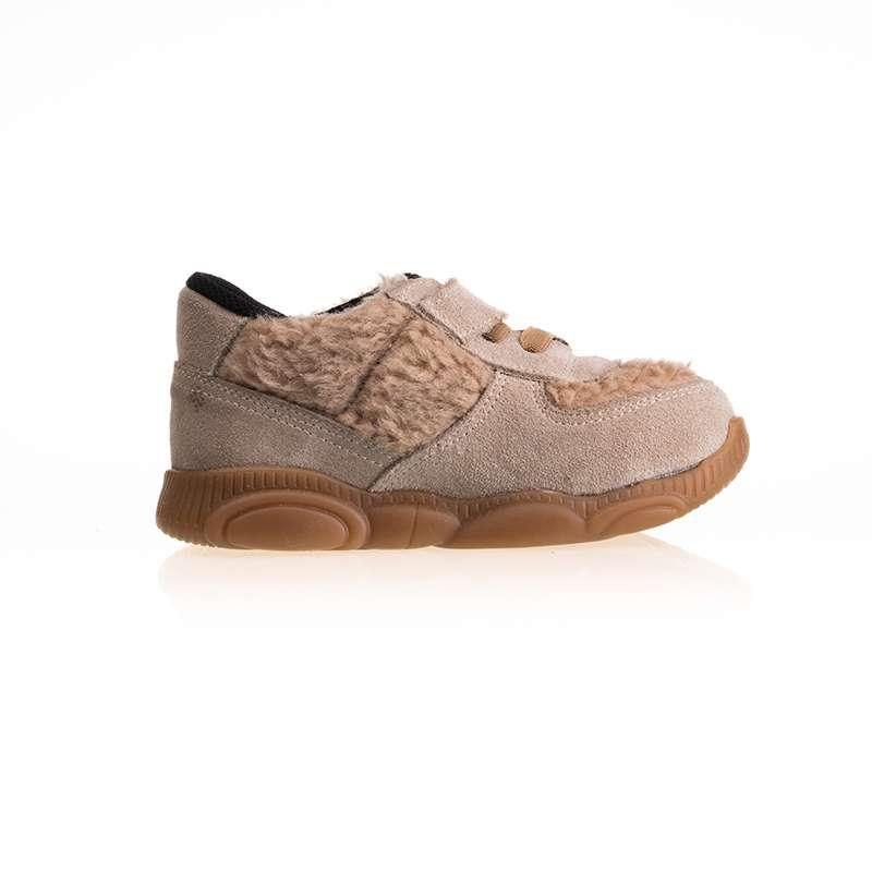 Krem Taba Kürklü Sneaker