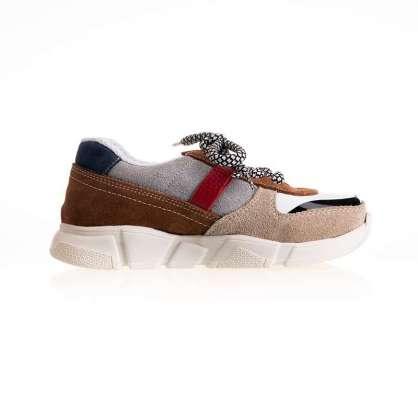 Krem Deri Sneaker